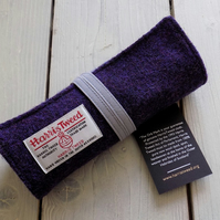 Harris Tweed pencils roll in deep purple. With or without pencils