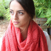 Brush Alpaca and Silk Scarf - Rich Plum