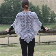 Shetland Lace Shawl - OOAK, Christmas Gifts, Wedding Gifts