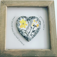 Framed Decoupage Heart