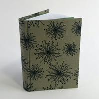 "Small Notebook, ""Love-in-a-Mist"", Grey"