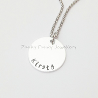 Personalised Necklace - Custom Name Necklace - Personalised Jewellery - Charm