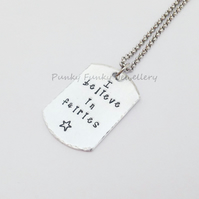 I Believe In Fairies Necklace - Fairy Necklace - Fairy Gifts - Fairy Jewellery