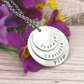 Personalised Stacked Name Necklace - Necklace For Mum Of Three - Grandma