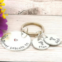 This Mummy Belongs To - Mummy Keyring - Personalised Gift For Mum - Name Gift