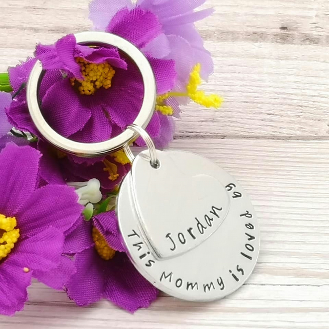 Personalised Mummy Keyring  Mother Gift - This Mummy Belongs To Keychain - Gift