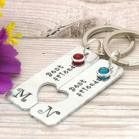 Personalised Best Friend Gift - Initial Keyring - Friendship Gift - Monogram