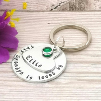 Personalised Grandad Gift - This Grandad Belongs To - Grandad Keyring - For Dad