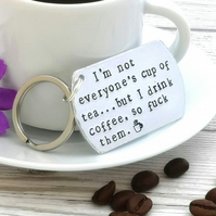 Coffee Quote Keyring - Gift For Coffee Lover - Sweary Gift - Funny Friend Gift