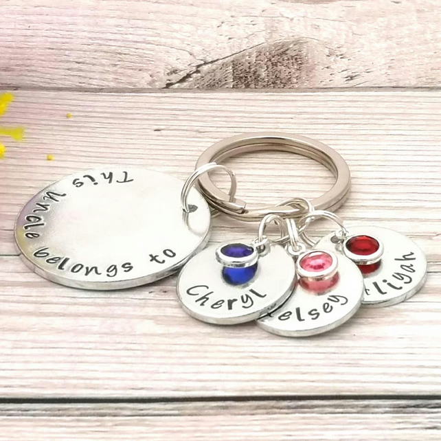 Personalised Uncle Gift - Uncle Keyring - Brother Gift - This Uncle Belongs To