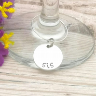 Personalised Place Names - Wedding Table Decoration - Wine Glass Charm - Custom