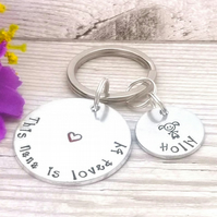 This Nanny Belongs To - Grandma Keyring - Personalised Gift For Nan - Grandchild