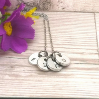 Personalised Charm Necklace - Initials Necklace For Women - Gift For Mum