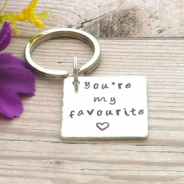 You're My Favourite - Keyring For Friend - Boyfriend Gift - Gift For Girlfriend