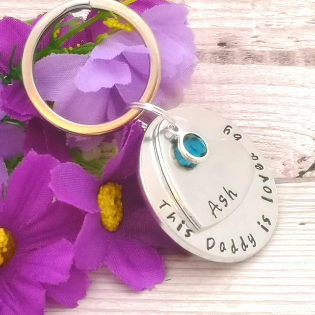 Personalised Daddy Gift - Dad Keyring