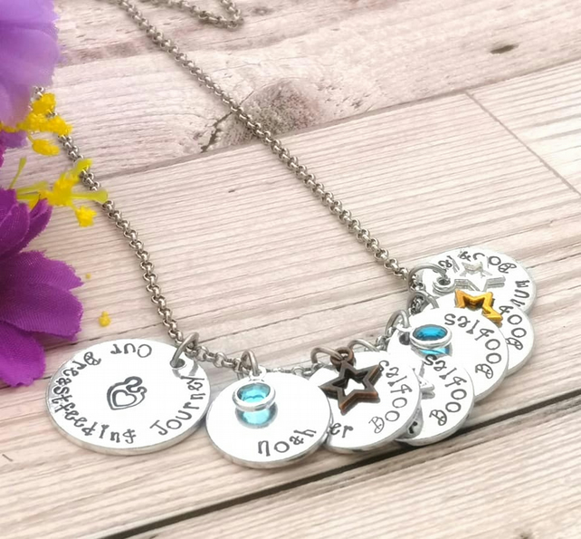 Personalised Breastfeeding Necklace - Custom New Mum Gift - Nursing Jewellery