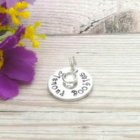 Diamond Boobies Booby Award Charm - Add-on Charm For Breastfeeding Keyring