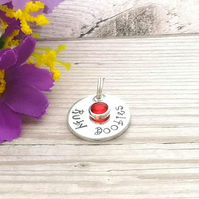 Ruby Boobies Booby Award Charm - Add-on Charm For Breastfeeding Keyring