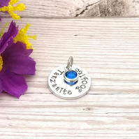 Tanzanite Boobies Booby Award Charm - Add-on Charm For Breastfeeding Keyring