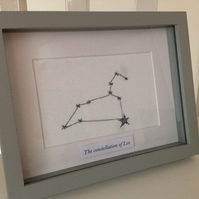 Zodiac Needlecraft Artwork - Constellation of Leo