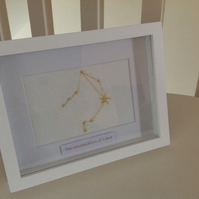Zodiac Needlecraft Framed Artwork - Constellation of Libra