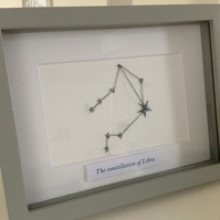 Zodiac Needlecraft Artwork - Constellation of Libra
