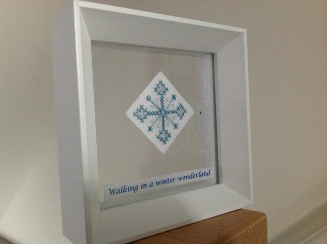 Snowflake Needlecraft Artwork - Walking in a winter wonderland
