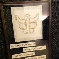 Angel Needlecraft Artwork - May angels guard you through the night....