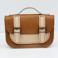 Leather Mini Kids Satchel Hand Stitched Bag Made to Order