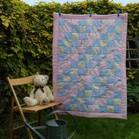 Handmade Patchwork Quilt for Baby or Toddler