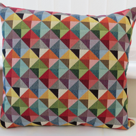 Handmade Multicolour Cushion Sofa Birthday Harlequin Gift