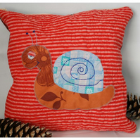 Quilted Snail Cushion Cover