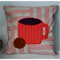 Mug and Biscuit Cushion Cover