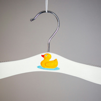 Baby hanger with rubber duck motif