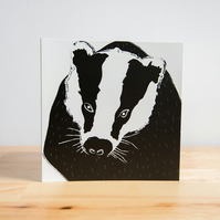 Badger Illustrated Greetings Card