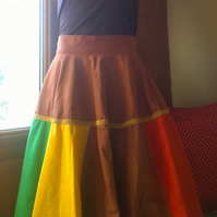Circle skirt. Brown.