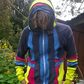 Upcycled colourful hoody