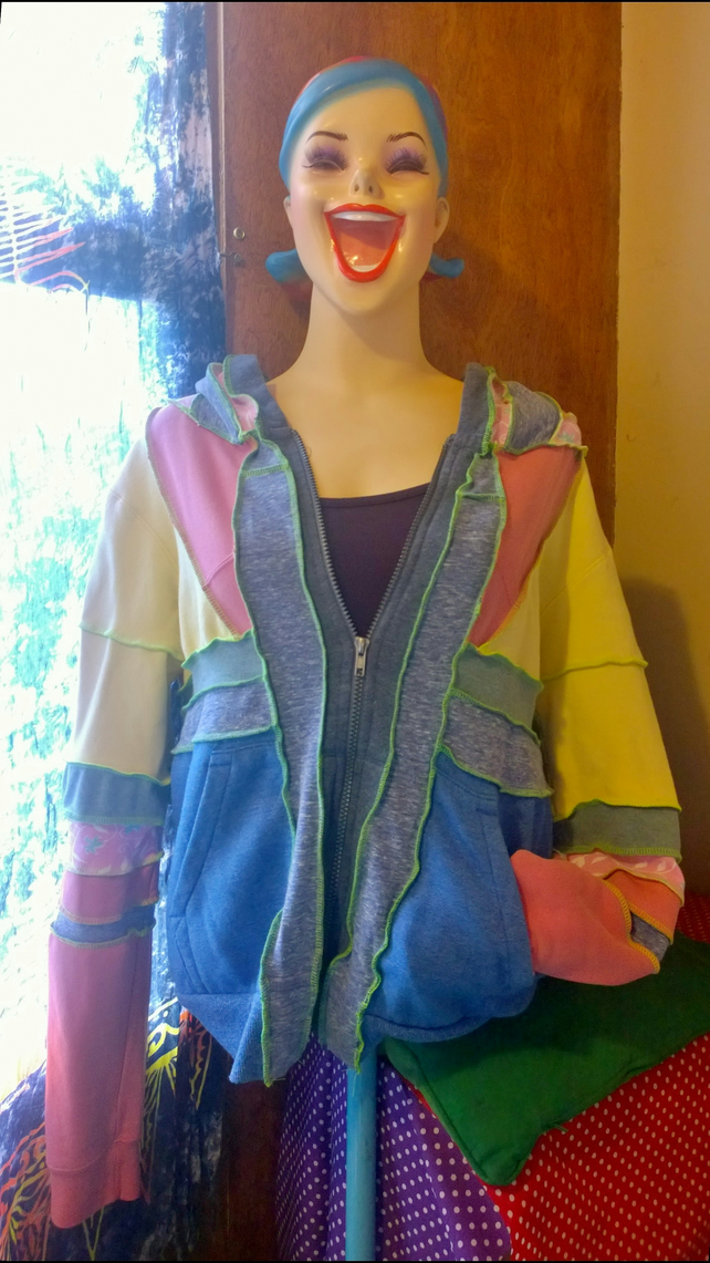 Upcycled pastel hoody. Can't believe it's butter.