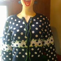 Upcycled cardigan. Just Spots