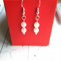 handmade semi precious quartz earrings