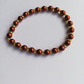 Copper Swarovski pearls and Topaz seed beads bracelet