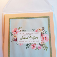 Card for mum, birthday, birth of baby, celebration