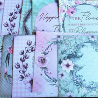 card toppers, decoupage, scrapbooking set