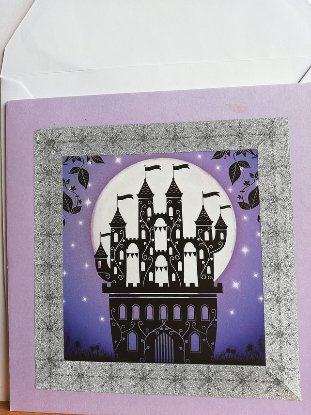 Enchanted castle card