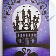Fairy tale castle card