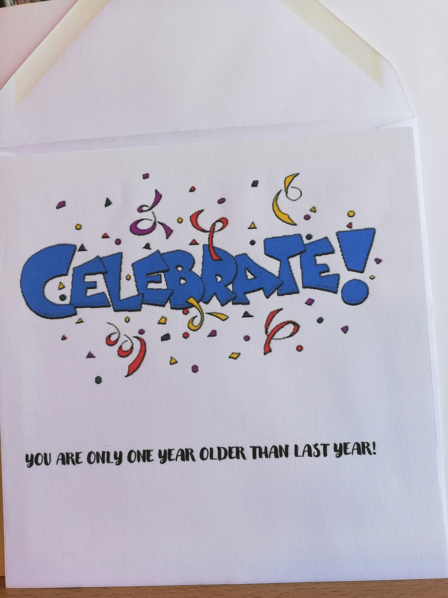 Celebration birthday card