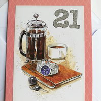 21 (again?) birthday card