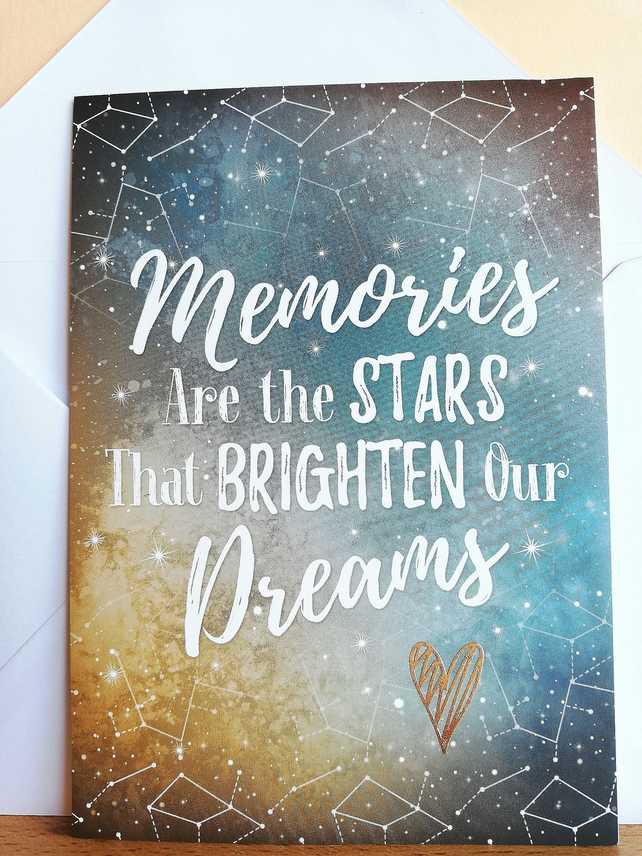 Memories and dreams blank card
