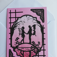 Fairy tale romantic card