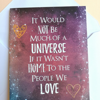 Stephen Hawking quote blank card